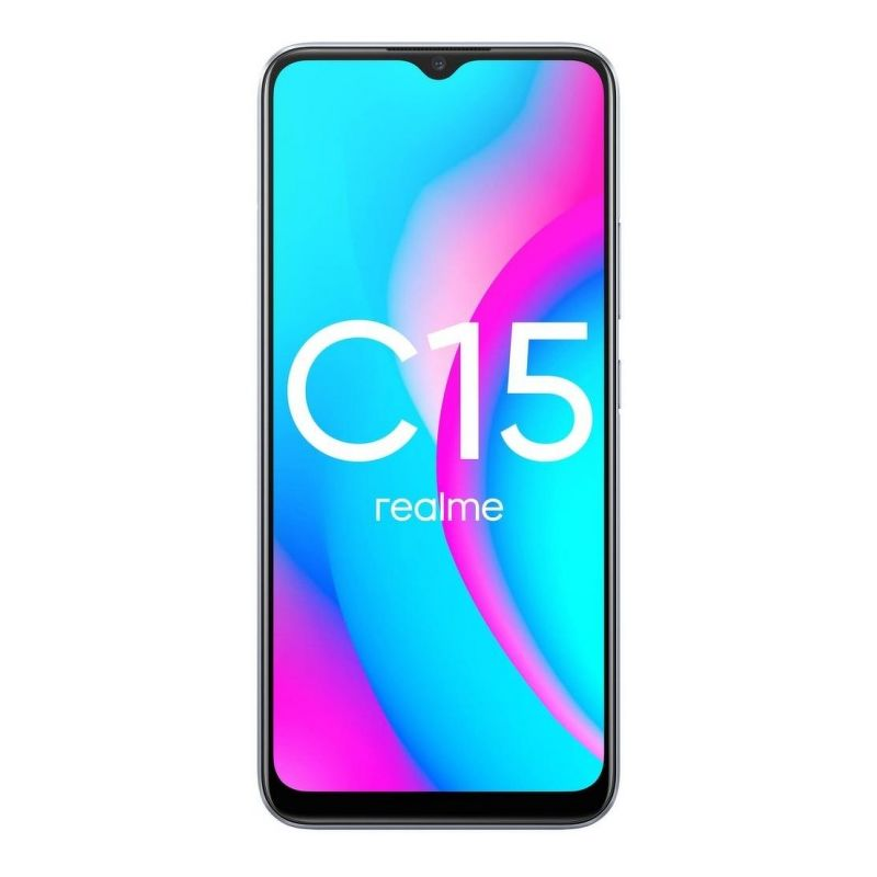 Смартфон realme C15 4/64 ГБ серебристый