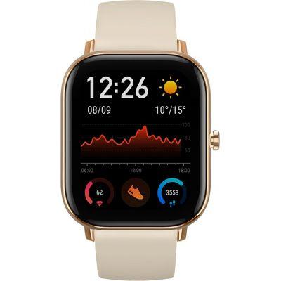 Смарт-часы Xiaomi Amazfit GTS золотые с бежевым ремешком
