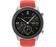 Смарт-часы Xiaomi Amazfit GTR 42mm серебристый с красным ремешком