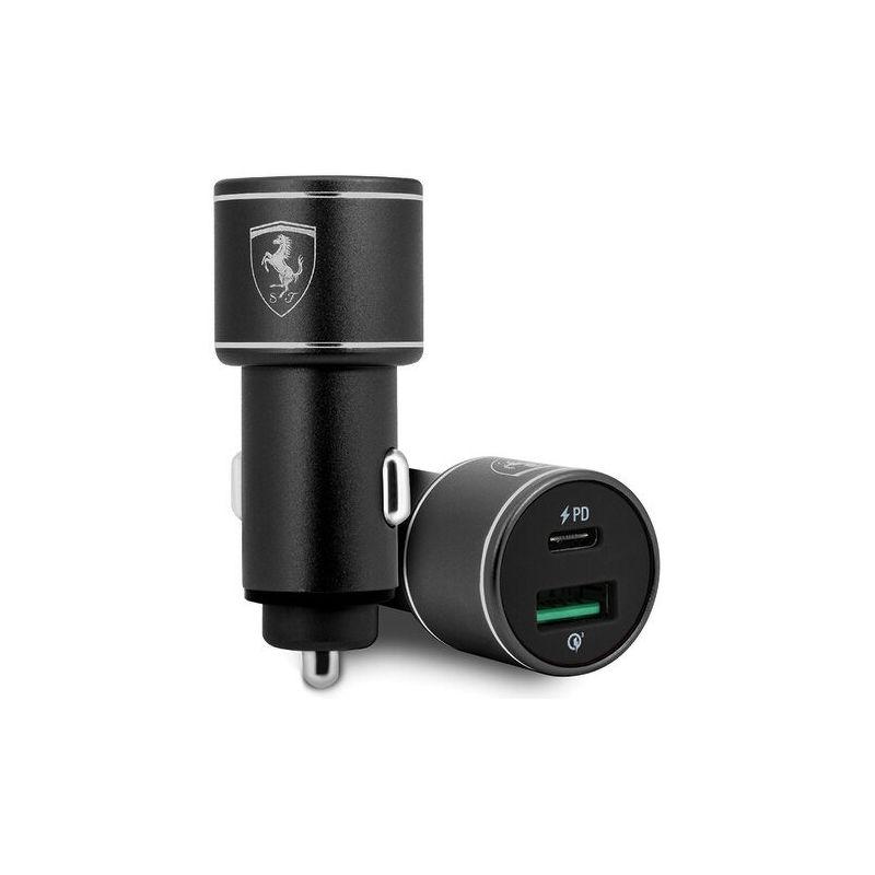 Автомобильная зарядка Ferrari Dual Port 36W Aluminium USB/Type-C черный