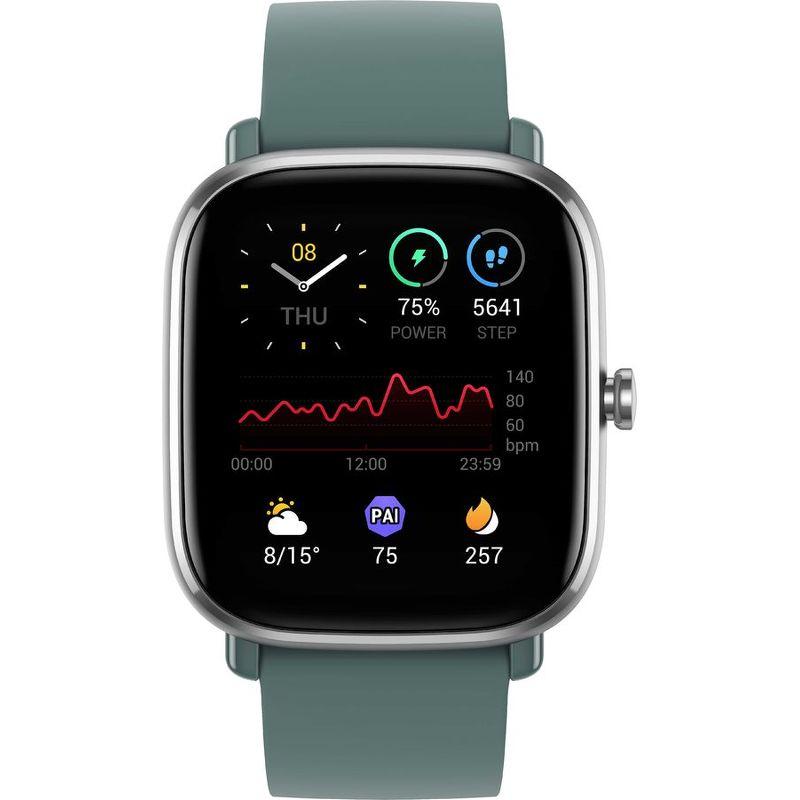 Смарт-часы Xiaomi Amazfit GTS 2 mini серый с зеленым ремешком