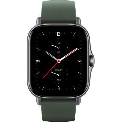Смарт-часы Xiaomi Amazfit GTS 2e серый с зеленым ремешком