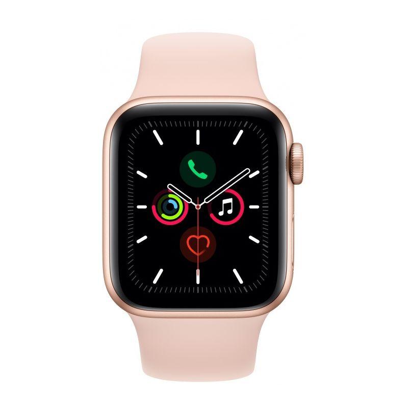 Смарт-часы Apple Watch Series 5 40mm золотистый с розовым ремешком