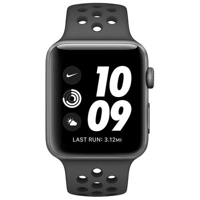 Смарт-часы Apple Watch Series 3 Nike 38mm серый с черным ремешком
