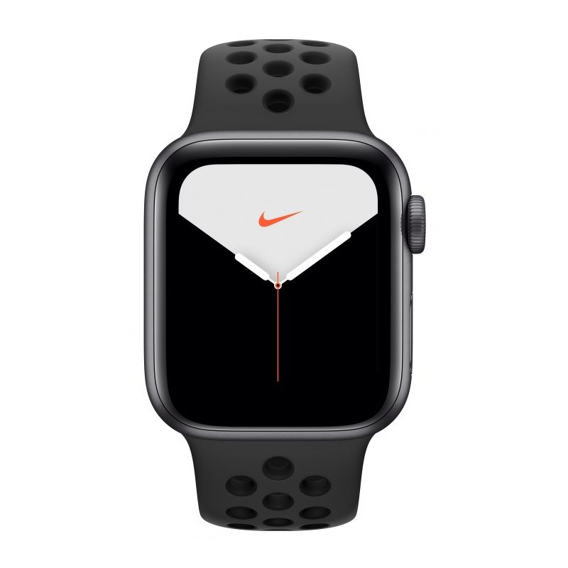 Смарт-часы Apple Watch Series 5 Nike 44mm серый с черным ремешком