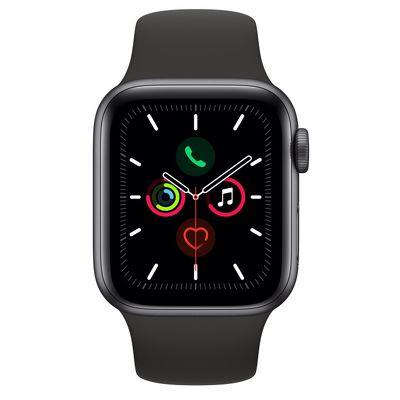 Смарт-часы Apple Watch Series 5 44mm серый с черным ремешком