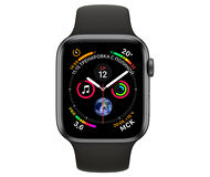 Apple Watch Series 4, 40mm, Space Gray Aluminum Case Black Sport Band