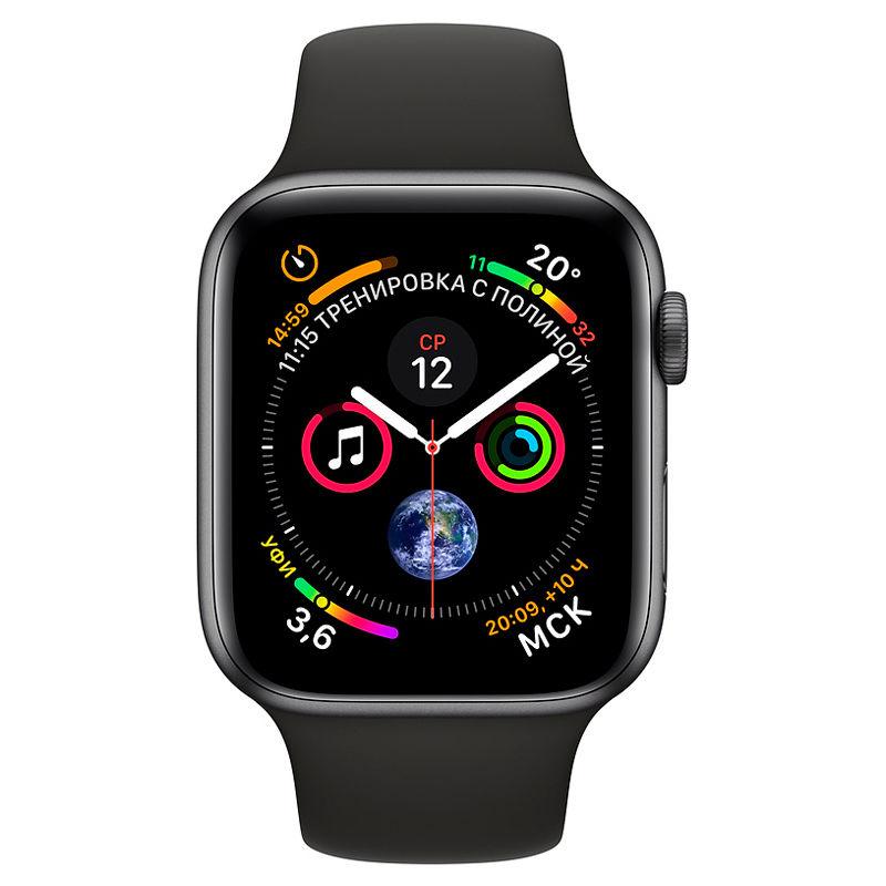 Смарт-часы Apple Watch Series 4 40mm серый с черным ремешком