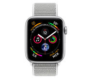 Apple Watch Series 4, 44mm, Silver Aluminum Case Seashell Sport Loop