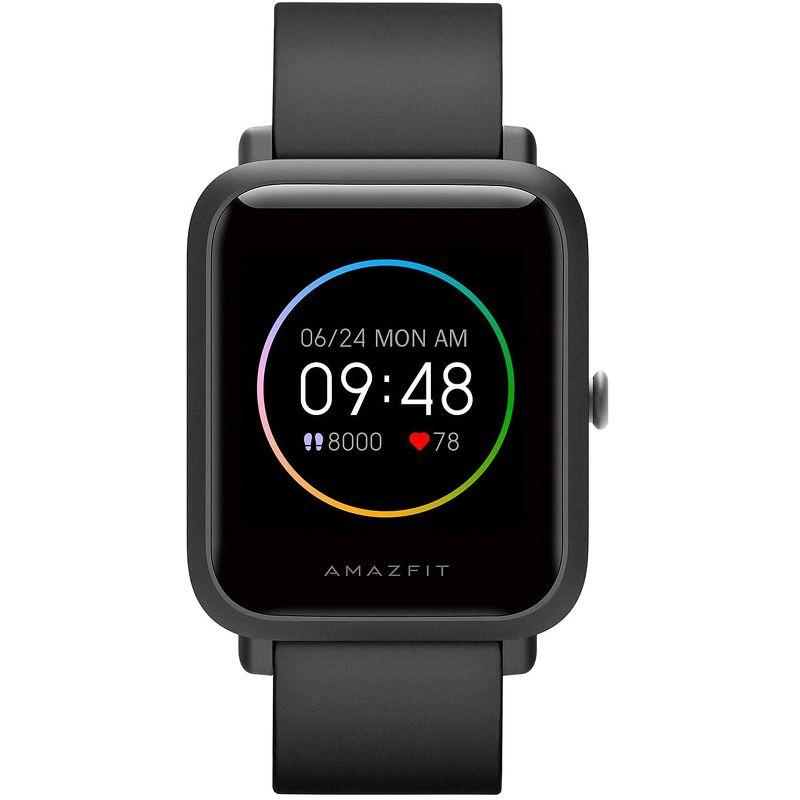 Смарт-часы Xiaomi Amazfit Bip S Lite черный с черным ремешком