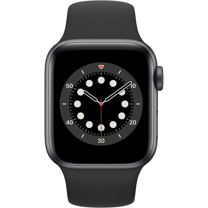 Смарт-часы Apple Watch Series 6 40mm серый с черным ремешком