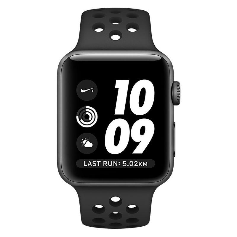 Смарт-часы Apple Watch Series 3 Nike 42mm серый с черным ремешком