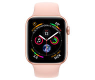 Apple Watch Series 4, 44mm, Gold Aluminum Case Pink Sand Sport Band