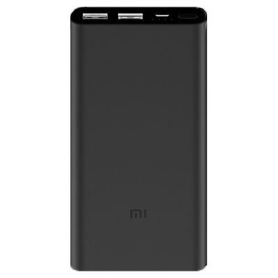 Портативный аккумулятор Xiaomi Mi Power Bank 2S (2i) 10000 mAh черный (PLM09ZM)