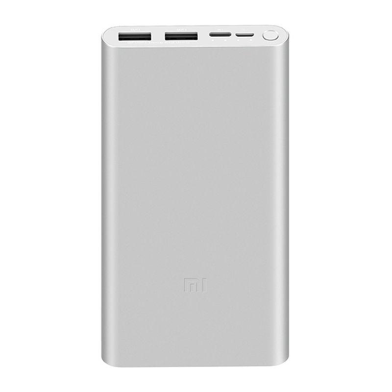 Портативный аккумулятор Xiaomi Mi Power Bank 3 10000 mAh серебристый (PLM13ZM)