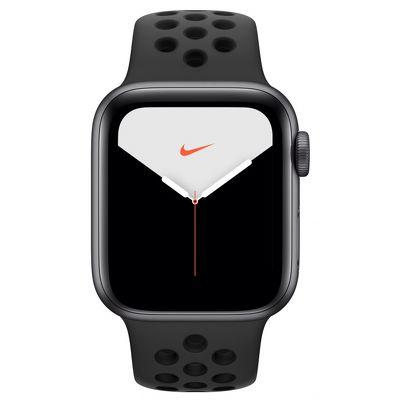 Смарт-часы Apple Watch Series 5 Nike 40mm серый с черным ремешком