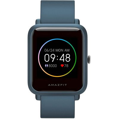 Смарт-часы Xiaomi Amazfit Bip S Lite синий с синим ремешком
