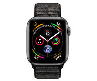 Apple Watch Series 4, 40mm, Space Gray Aluminum Case Black Sport Loop