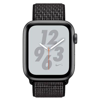 Apple Watch Series 4, 44mm, Space Gray Aluminum Case Anthracite/Black Nike Sport Loop
