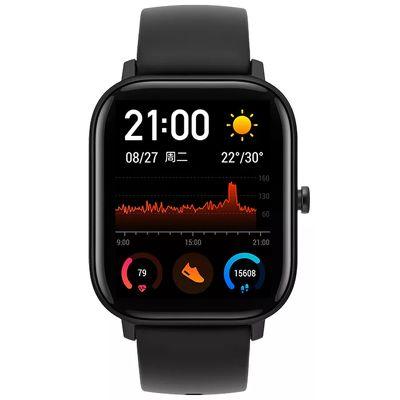 Смарт-часы Xiaomi Amazfit GTS черный с черным ремешком
