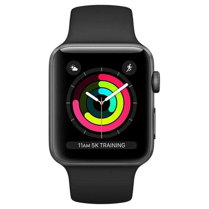 Смарт-часы Apple Watch Series 3 38mm серый с черным ремешком