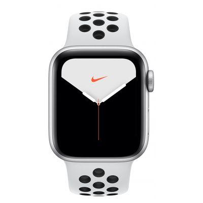 Смарт-часы Apple Watch Series 5 Nike 40mm серебристый с белым ремешком