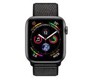 Смарт-часы Apple Watch Series 4 44mm серый с черным ремешком