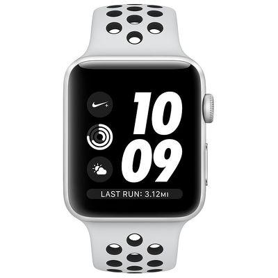 Смарт-часы Apple Watch Series 3 Nike 42mm серебристый с белым ремешком