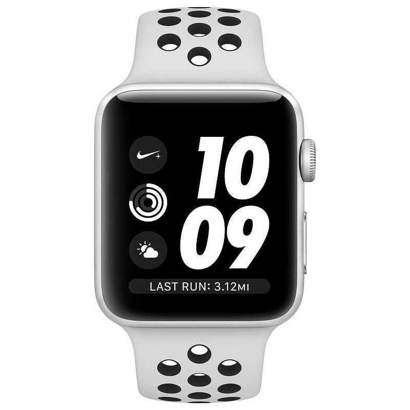 Смарт-часы Apple Watch Series 3 Nike 38mm серебристый с белым ремешком