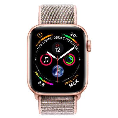 Смарт-часы Apple Watch Series 4 40mm золотистый с розовым ремешком
