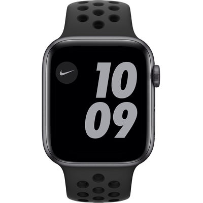 Смарт-часы Apple Watch Series 6 Nike 44mm серый с черным ремешком