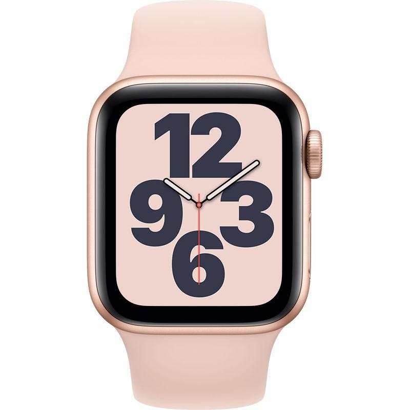 Смарт-часы Apple Watch SE 40mm золотистый с розовым ремешком