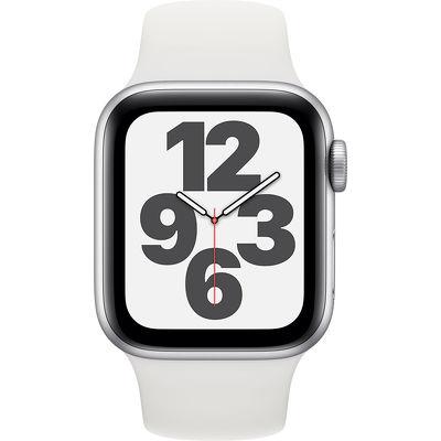 Смарт-часы Apple Watch SE 40mm серебристый с белым ремешком