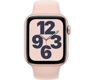 Смарт-часы Apple Watch SE 44mm золотистый с розовым ремешком