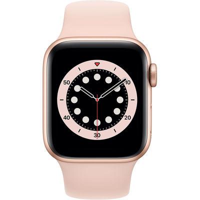 Смарт-часы Apple Watch Series 6 40mm золотистый с розовым ремешком