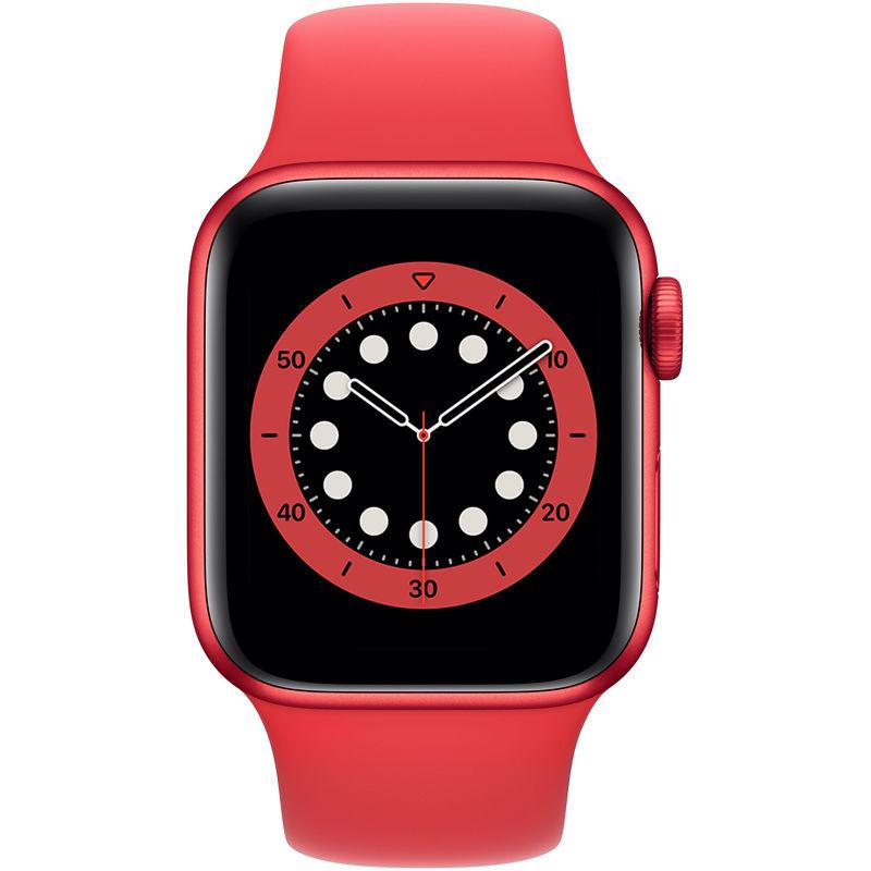 Смарт-часы Apple Watch Series 6 40mm красный с красным ремешком
