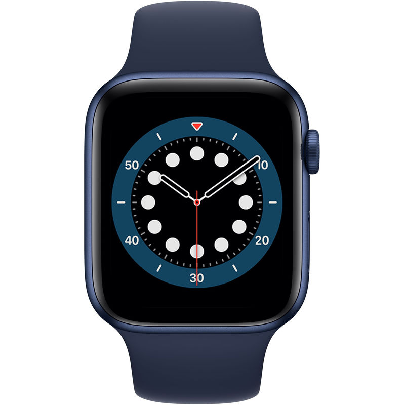 Смарт-часы Apple Watch Series 6 44mm синий с синим ремешком