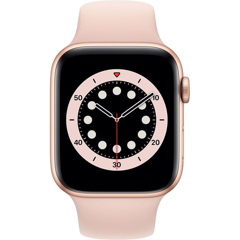 Смарт-часы Apple Watch Series 6 44mm золотистый с розовым ремешком