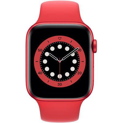 Смарт-часы Apple Watch Series 6 44mm красный с красным ремешком