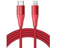 Кабель Anker PowerLine+ II USB-C to Lightning 1.8m красный A8653H91