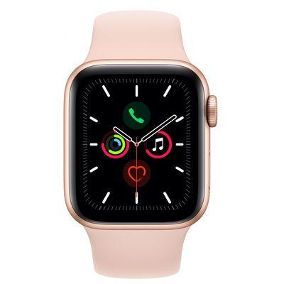 Смарт-часы Apple Watch Series 5 44mm золотистый с розовым ремешком