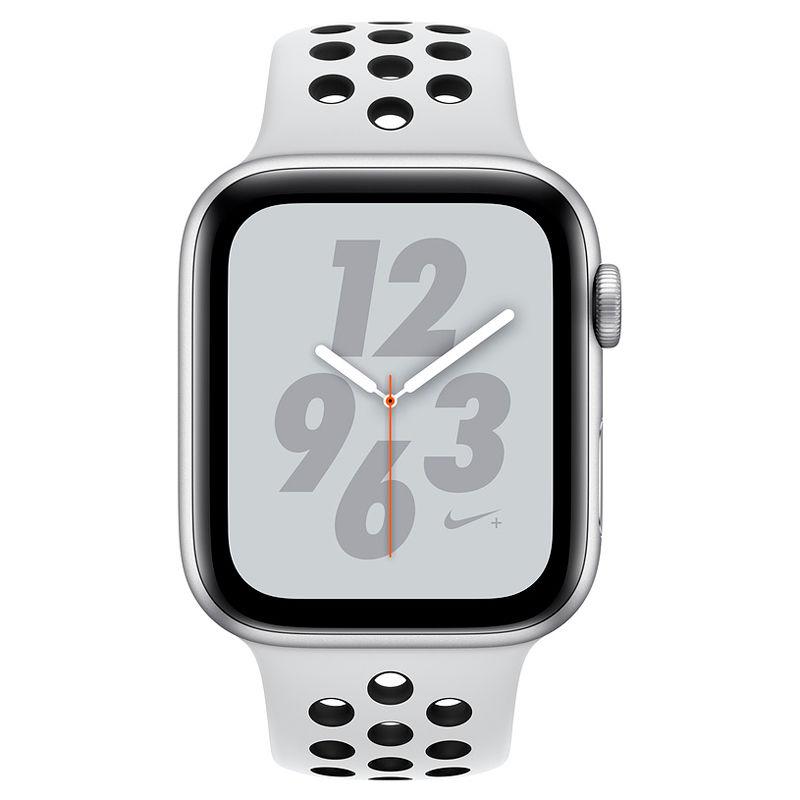 Смарт-часы Apple Watch Series 4 Nike 40mm серебристый с белым ремешком