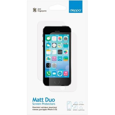 Комплект защитных пленок для Apple iPhone 5/5S матовая