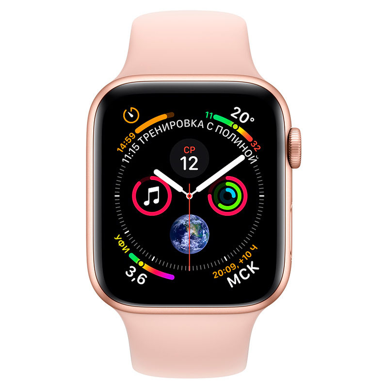 Apple Watch Series 4, 40mm, Gold Aluminum Case Pink Sand Sport Band