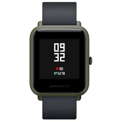 Смарт-часы Xiaomi Amazfit Bip зеленый с черным ремешком
