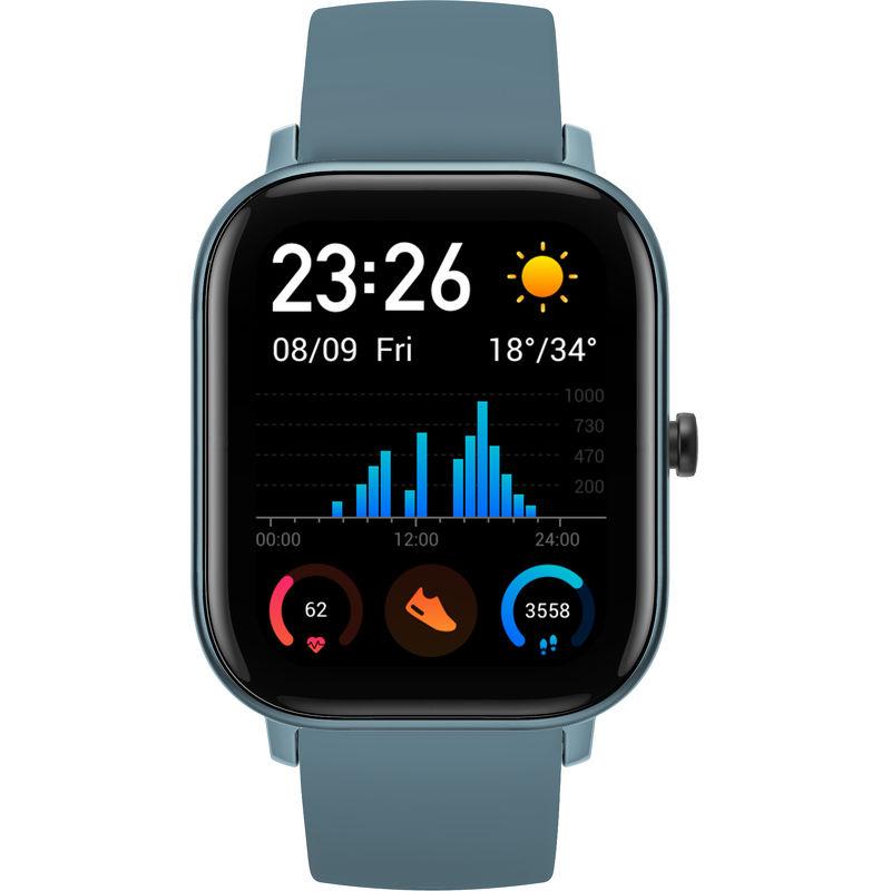 Смарт-часы Xiaomi Amazfit GTS голубой с голубым ремешком