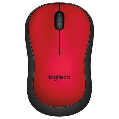 Беспроводная мышь Logitech M220 SILENT красный