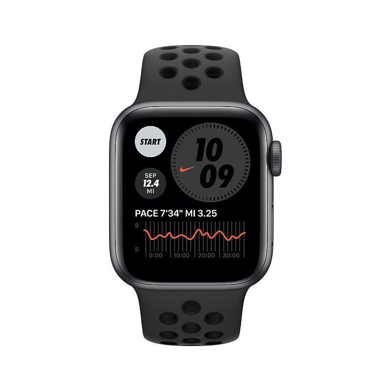 Смарт-часы Apple Watch SE Nike 44mm серый с черным ремешком