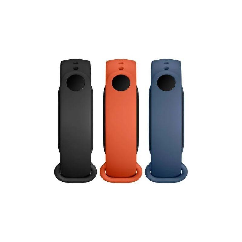 Ремешок для фитнес браслета Xiaomi Mi Smart Band 6 Strap (3шт) черный/оранжевый/синий BHR5134GL
