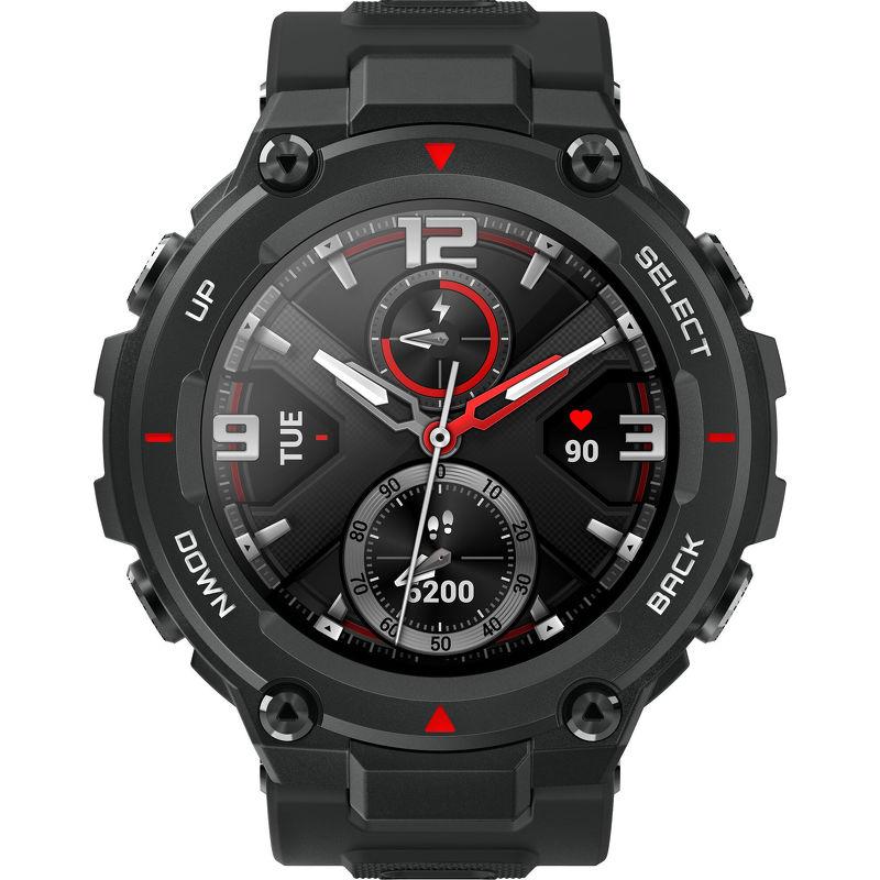 Смарт-часы Xiaomi Amazfit T-Rex черный с черным ремешком